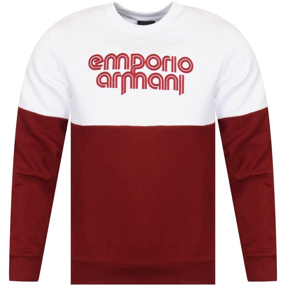 8ccd42a23049f EMPORIO ARMANI Emporio Armani Red/White Sweatshirt - Men from ...