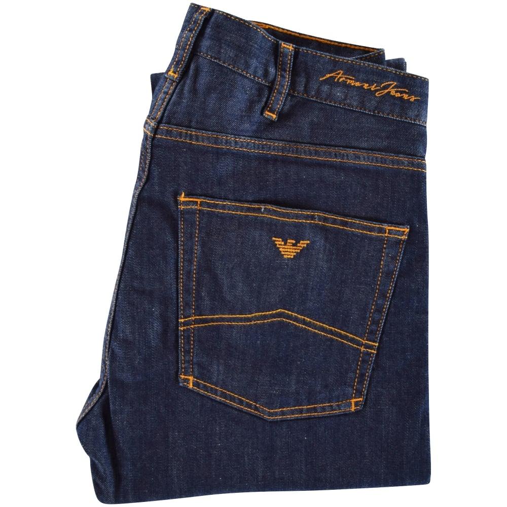EMPORIO ARMANI Emporio Armani Stitched Logo Slim Fit Jeans - Men ... 8365df5e6f4f