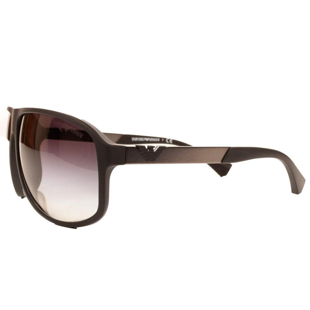 e89ad69c392e EMPORIO ARMANI Armani Aviator Matte Black   Grey Sunglasses - Men ...