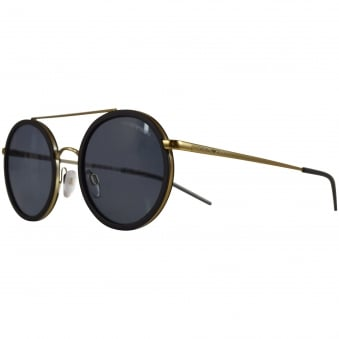 Emporio Armani Sunglasses Black/Gold Tea Shade Sunglasses