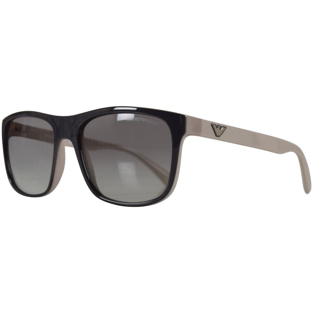 5fbc52026df EMPORIO ARMANI Emporio Armani Sunglasses Black Grey Logo Wayfarer ...