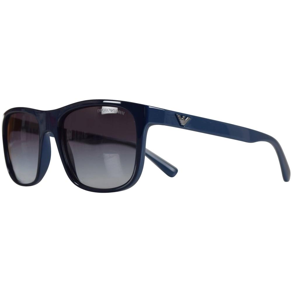 63e8a9fe6ac EMPORIO ARMANI Emporio Armani Sunglasses Blue Wayfarer Sunglasses ...