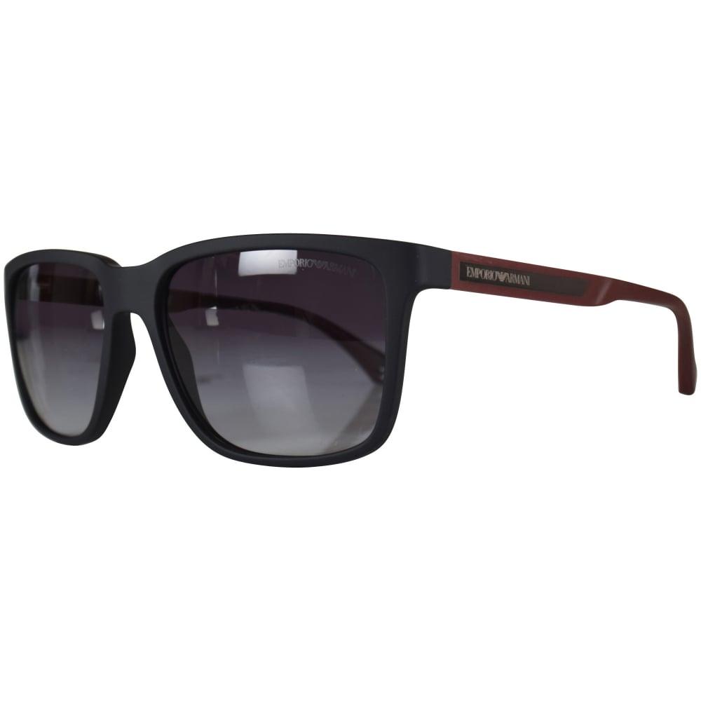 2f671e6777a2 EMPORIO ARMANI Emporio Armani Black Matte Sunglasses - Men from ...
