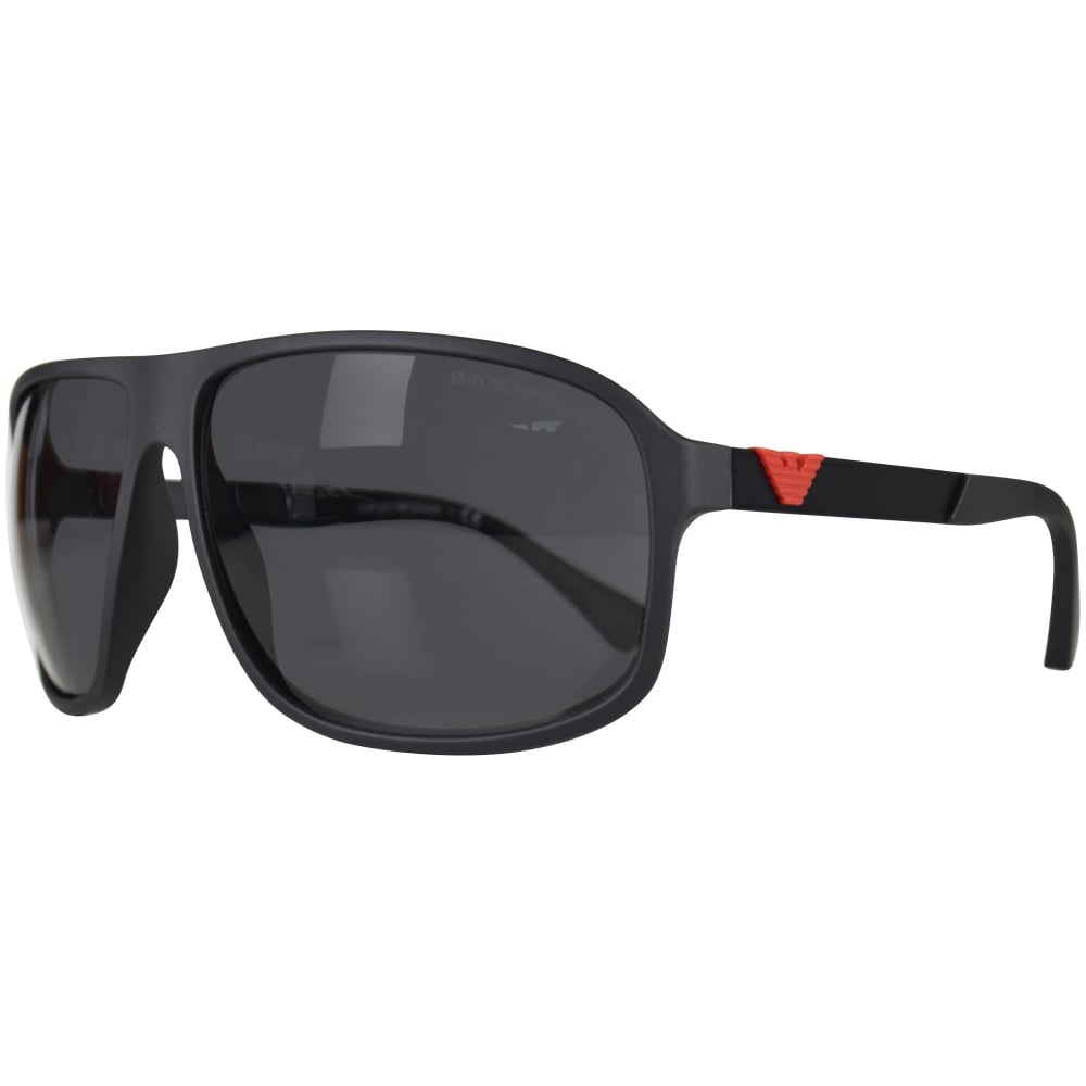 099e70b4e149 EMPORIO ARMANI Emporio Armani Matte Black Sunglasses - Men from ...