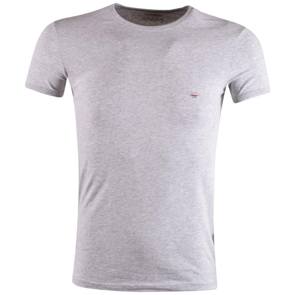 7b2132ec8 EMPORIO ARMANI Emporio Armani Underwear Grey Logo T-Shirt ...