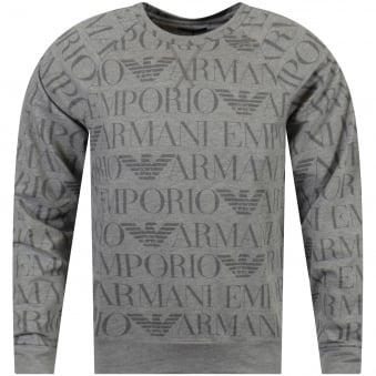 Grey Multi Logo Print Sweatshirt