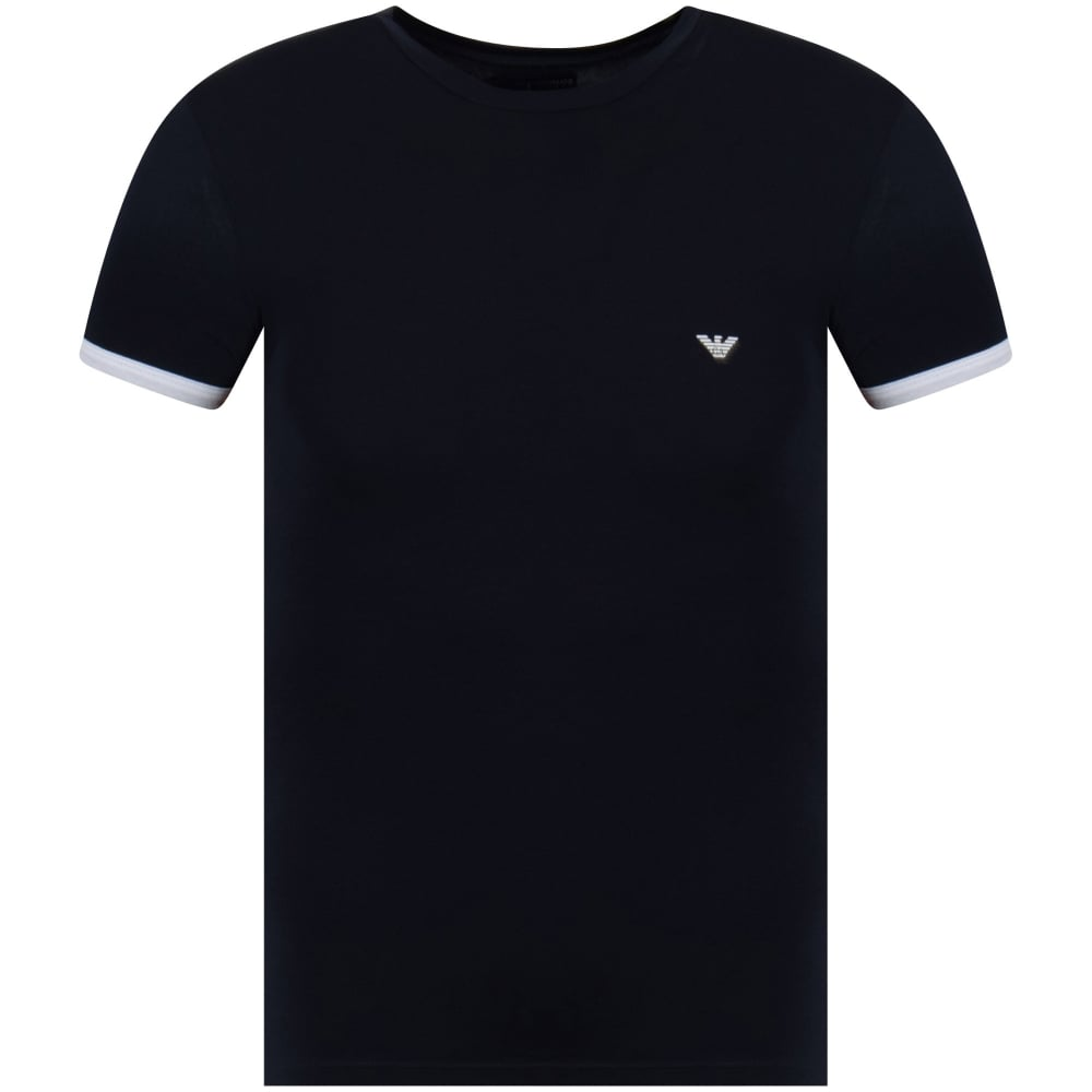 48d8d561c EMPORIO ARMANI Emporio Armani Underwear Navy Back Logo Print T-Shirt ...