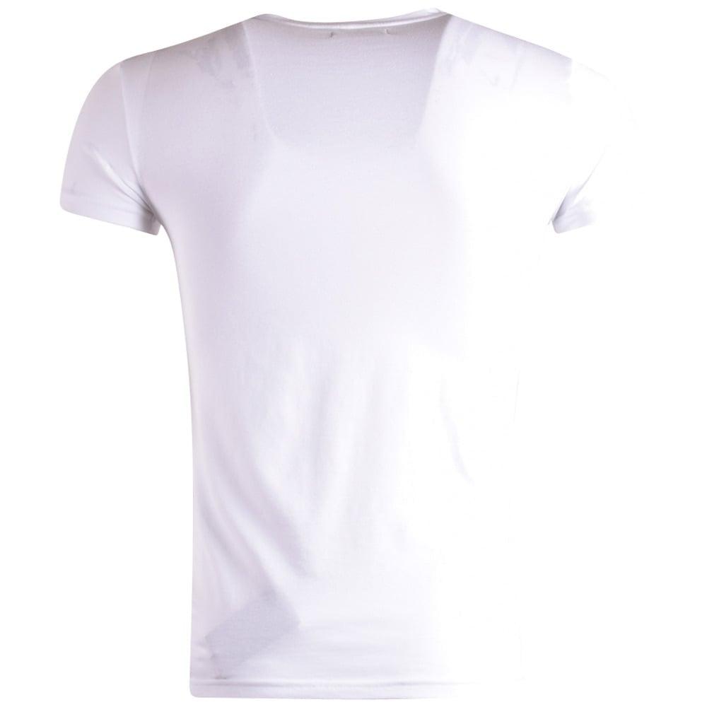 5eb2a42b0 EMPORIO ARMANI Emporio Armani Underwear White Logo T-Shirt ...