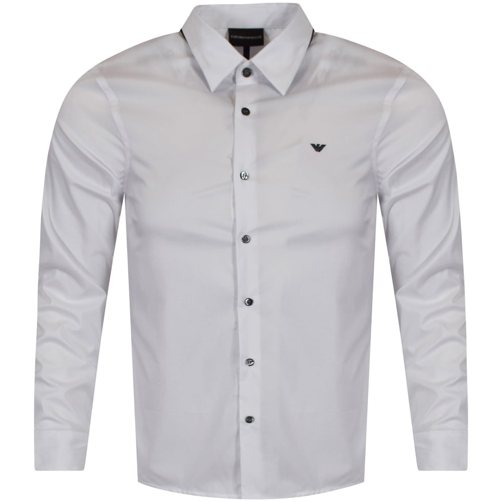 5e103a64befa EMPORIO ARMANI White Collar Detail Shirt - Men from Brother2Brother UK