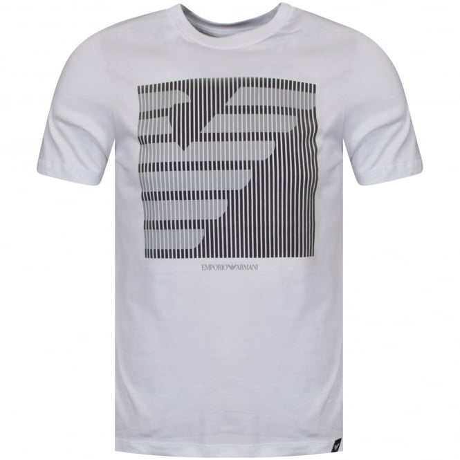 EMPORIO ARMANI White/Grey Short Sleeve Logo T-Shirt