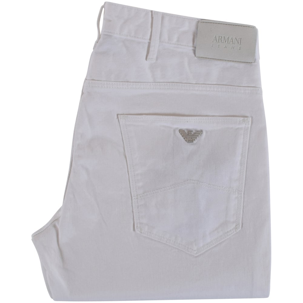 Men White From Emporio Fit J06 Slim Armani Jeans UxBa4