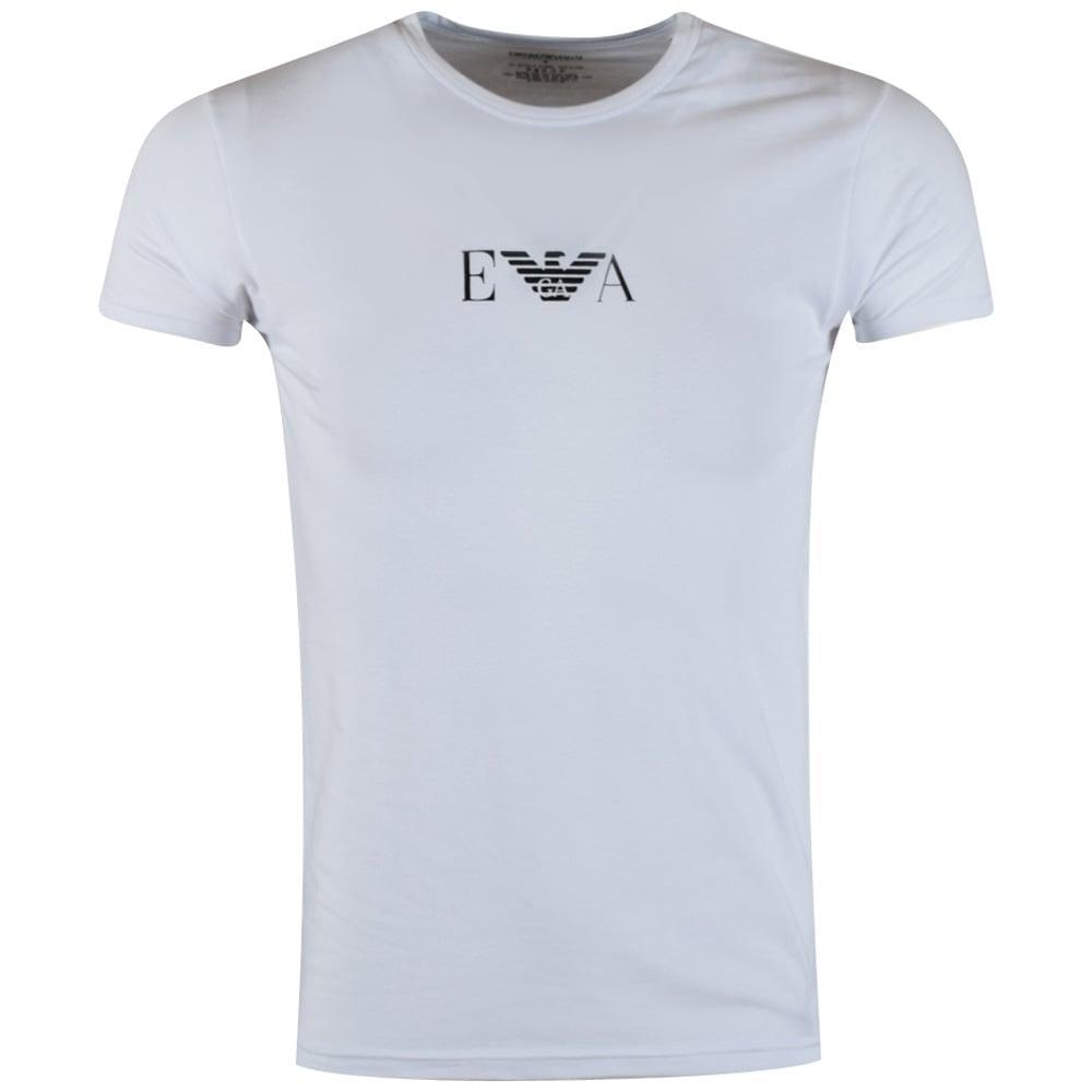 2726efbc5bd EMPORIO ARMANI Emporio Armani White Large Logo T-Shirt - Men from ...