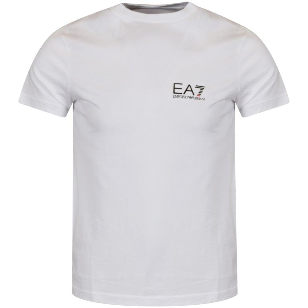 e4692bad8 EMPORIO ARMANI EA7 Emporio Armani White Small Logo T-Shirt ...