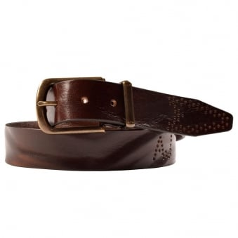 Z6151P9 Brown Leather Belt