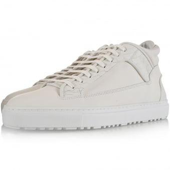 ETQ Mid 2 White Croc Embossed Trainers