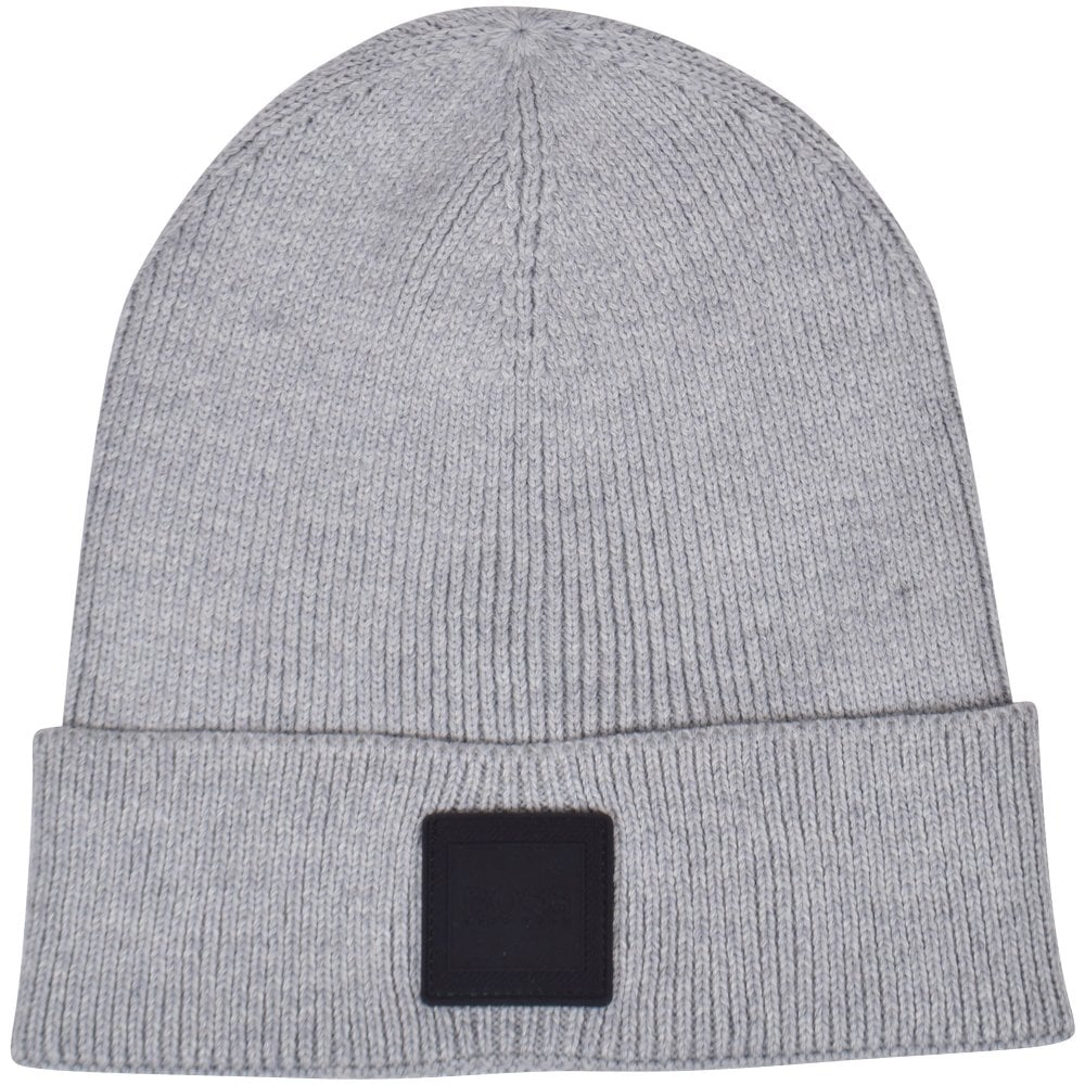 BOSS Foxx Light Pastel Grey Beanie Hat - Men from Brother2Brother UK 00c4a967277c