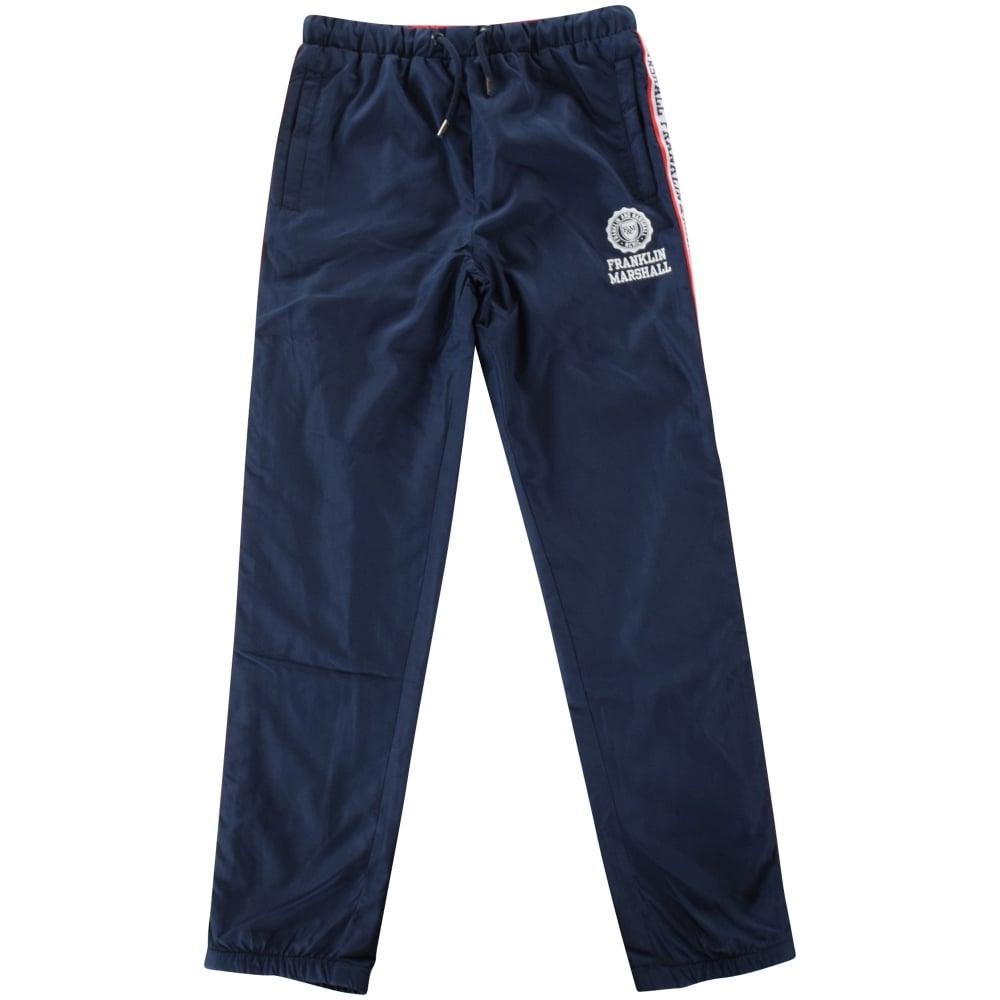 the best attitude adb0e 8b5f4 FRANKLIN AND MARSHALL JUNIOR Franklin and Marshall Navy Stripe Text Logo  Track Pants