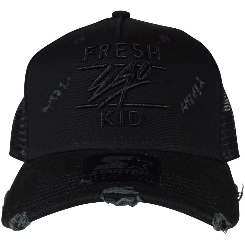5556d969776 FRESH EGO KID Black Distressed Mesh Trucker Cap - Men from ...