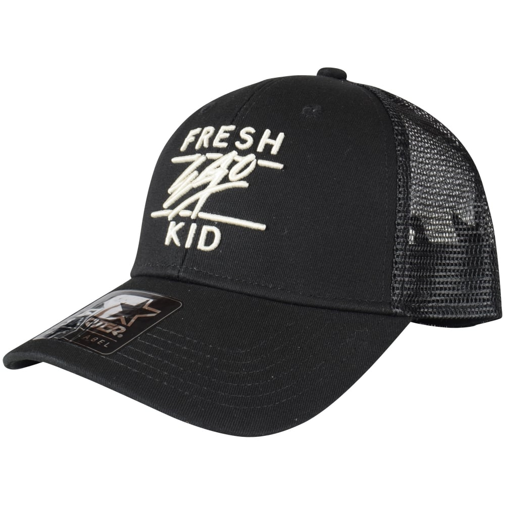 d939c057fe5bc7 FRESH EGO KID Black/Off White Mesh Trucker Cap - Department from ...