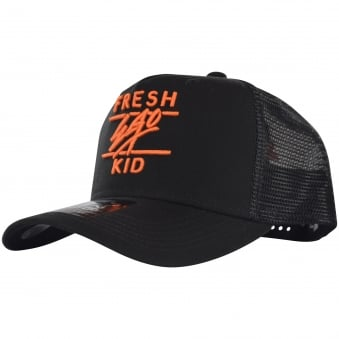 Fresh Ego Kid Black/Orange Mesh Trucker Cap