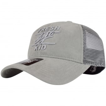 Fresh Ego Kid Grey Suede Mesh Trucker Cap