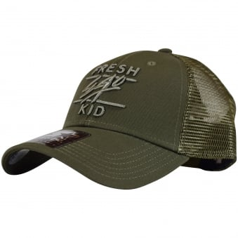 Fresh Ego Kid Khaki Mesh Trucker Cap