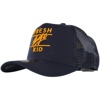 Fresh Ego Kid Navy Mesh Trucker Cap