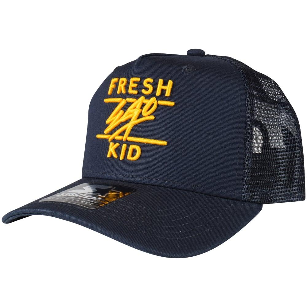 FRESH EGO KID Navy Yellow Mesh Trucker Cap - Men from Brother2Brother UK 5c1880979e0