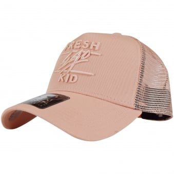 Fresh Ego Kid Peach Pink Mesh Trucker Cap