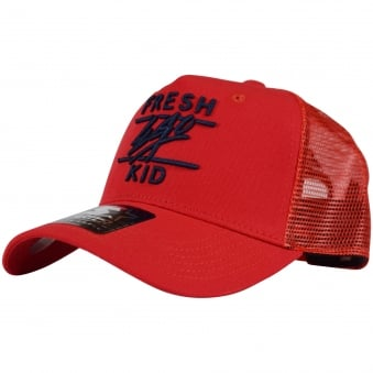 Fresh Ego Kid Red/Navy Mesh Trucker Cap
