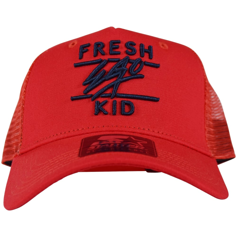 a9c83db5c09 FRESH EGO KID Fresh Ego Kid Red Navy Mesh Trucker Cap - Men from ...