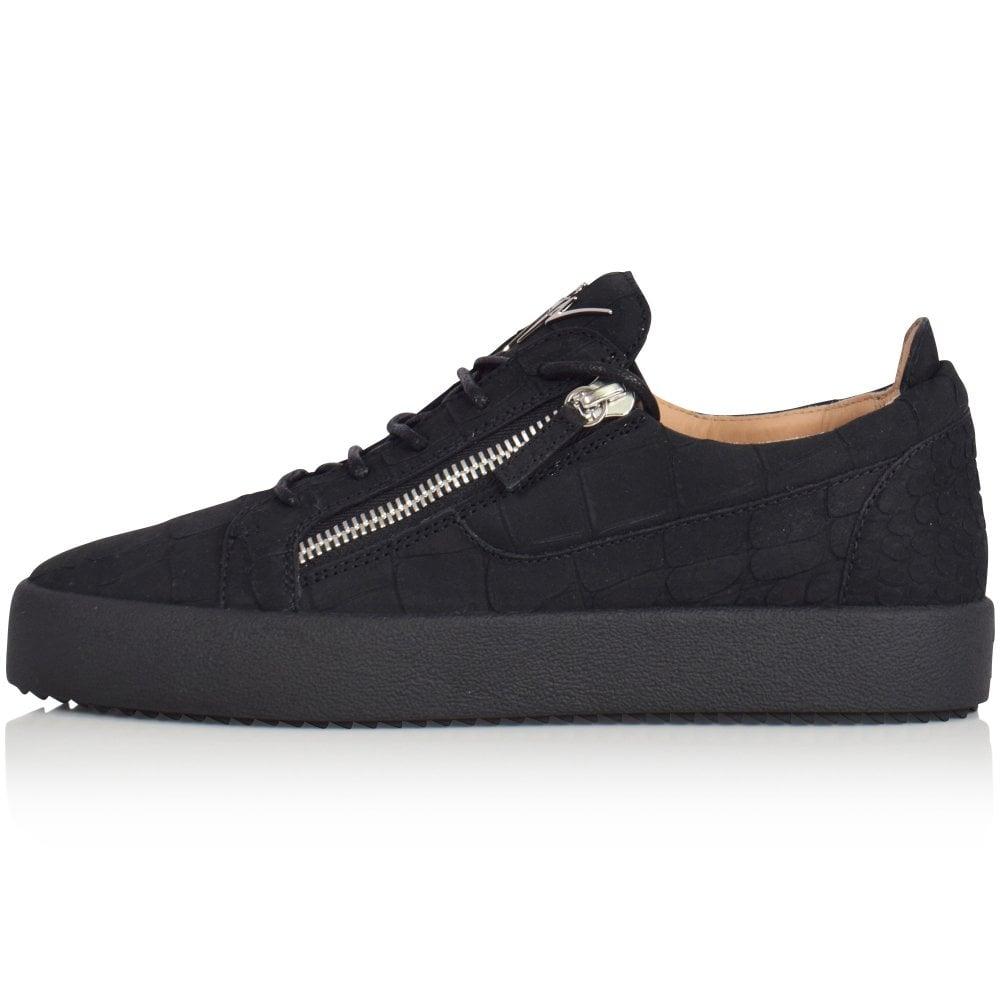 watch autumn shoes wholesale dealer Black Frankie Croco Trainers
