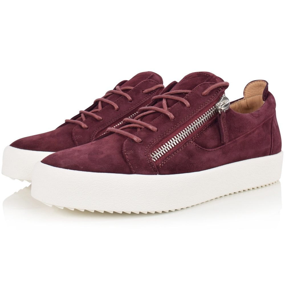 cf5fcf75ba233 GIUSEPPE ZANOTTI Burgundy Suede May Trainers - Department from ...