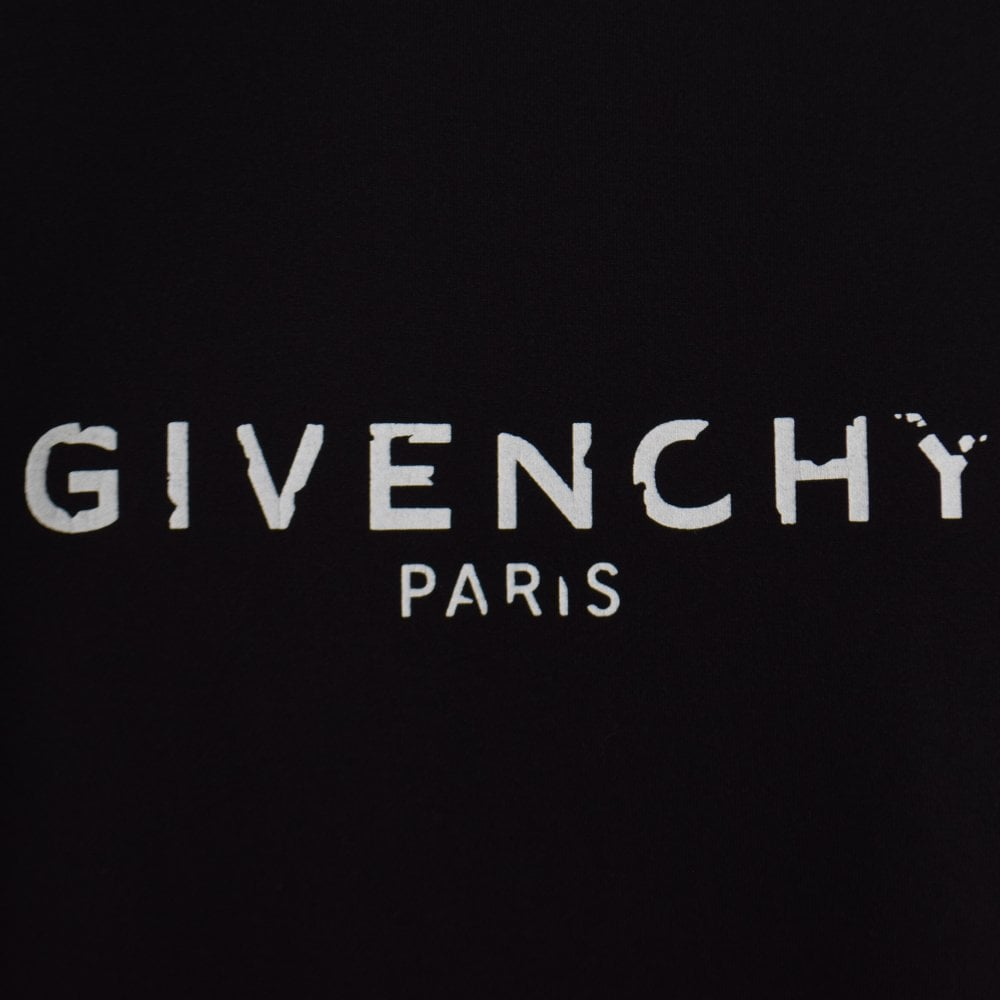 7fd7f450 GIVENCHY Black Cracked Text T-Shirt - Department from Brother2Brother UK