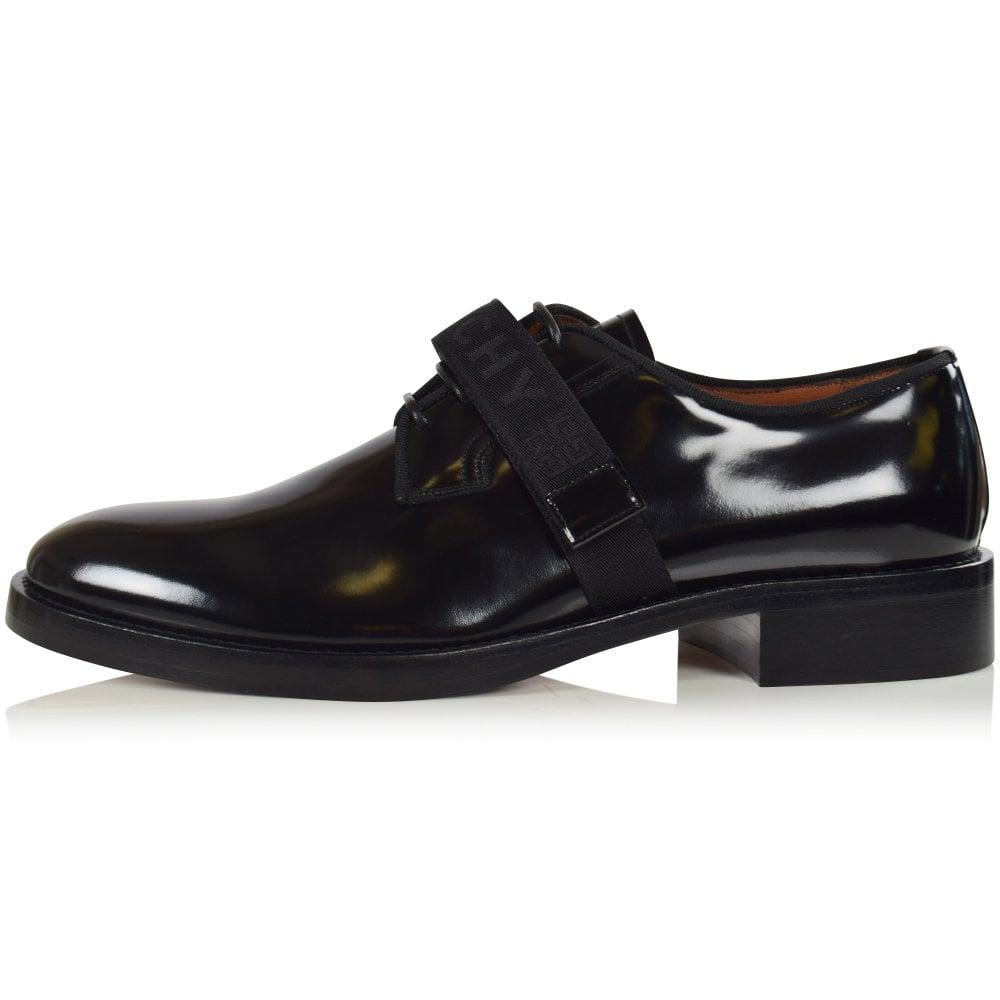 Givenchy Black Cruz Velcro Derby Shoes