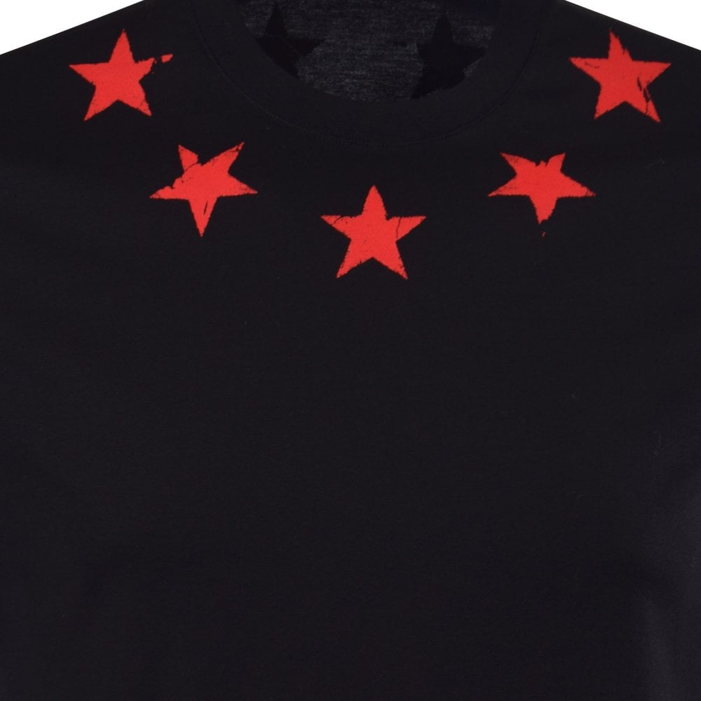 478d9e29e99957 GIVENCHY Black/Red Star Print T-Shirt - Men from Brother2Brother UK