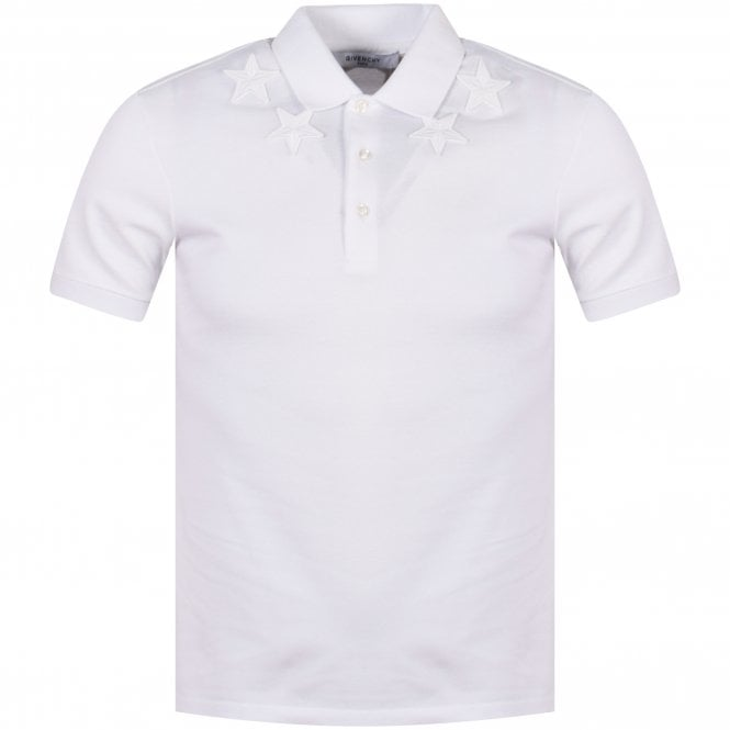 df32771c GIVENCHY White Embroidered Star Polo Shirt - Department from ...