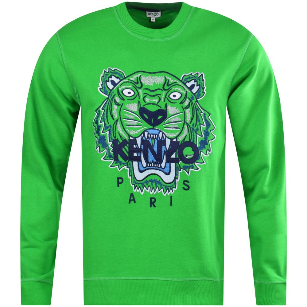 e3577411451 Grass Green Tiger Logo Sweatshirt