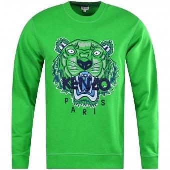 2930a07e3833 Grass Green Tiger Logo Sweatshirt