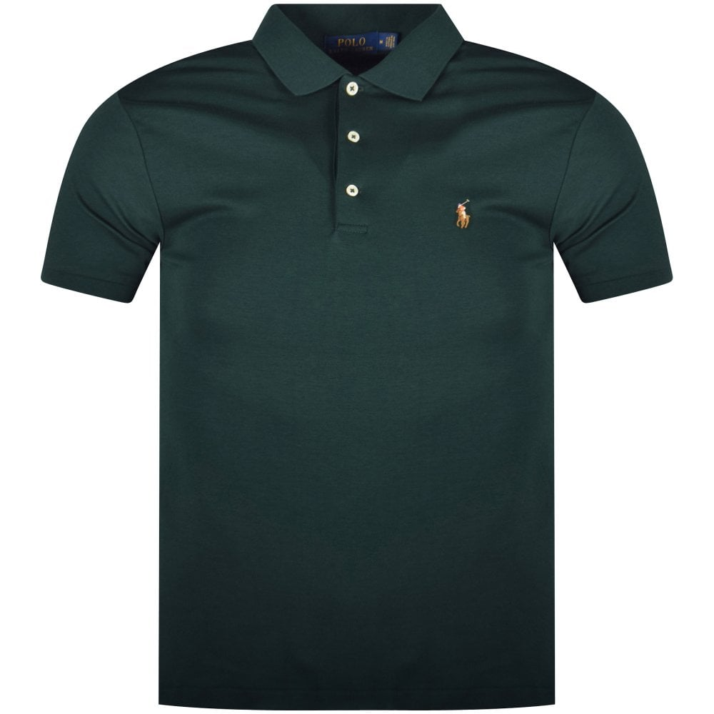 ad78ab31f POLO RALPH LAUREN Green Short Sleeve Slim Fit Polo Shirt ...
