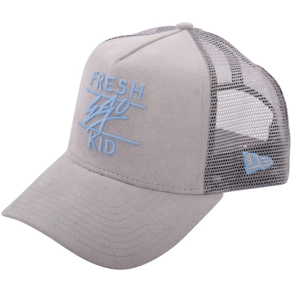 FRESH EGO KID Grey Blue Suede Mesh Trucker Cap - Men from ... 37cdb29d10a