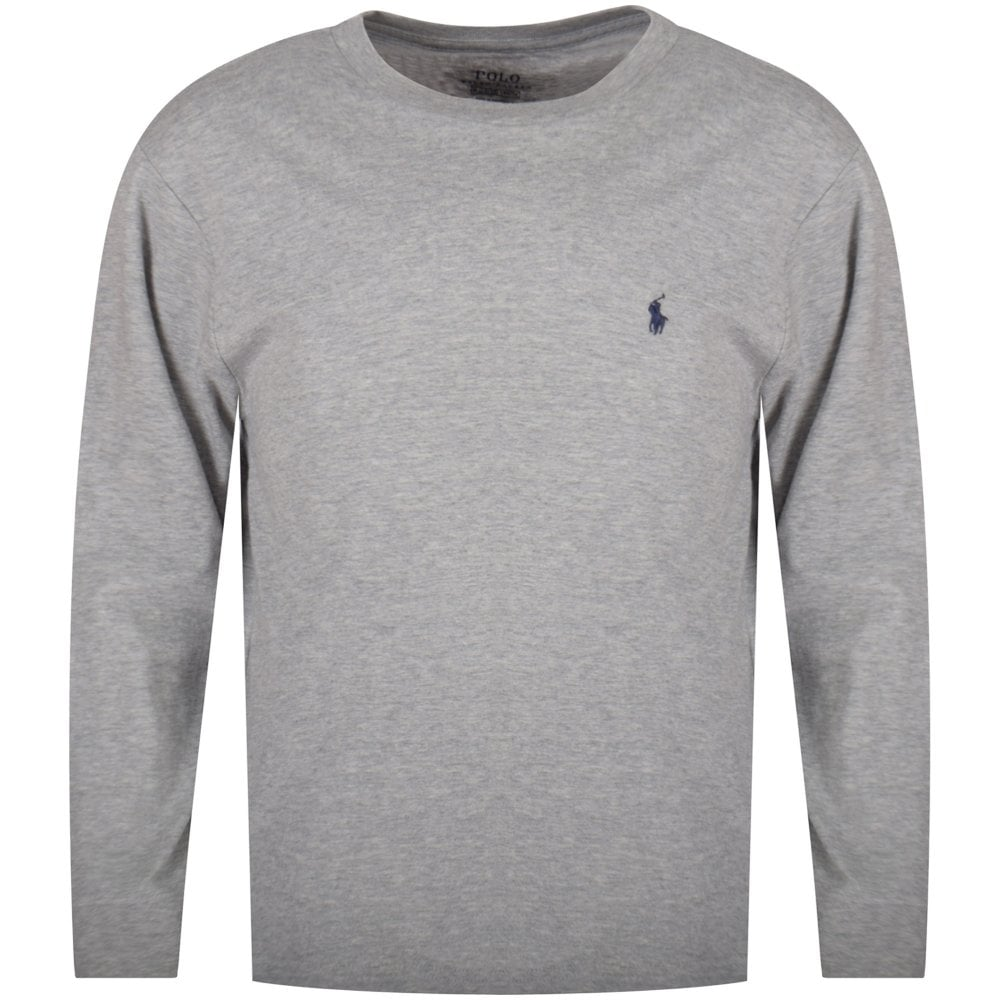 d0caa423cbe1e POLO RALPH LAUREN JUNIOR Grey Classic Logo Long Sleeve T-Shirt - Junior  from Brother2Brother UK