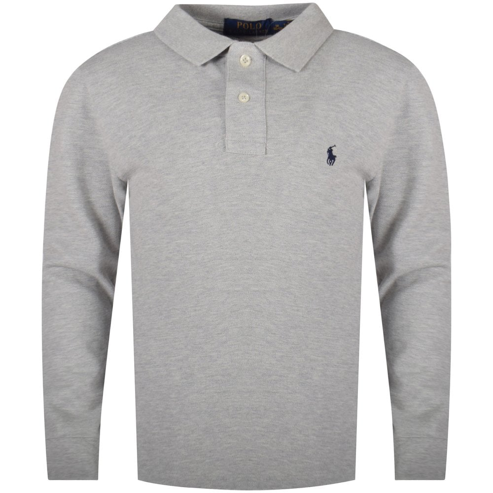 Sleeve Polo Long Shirt Grey Classic pUzGjqSVLM