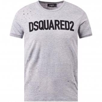 ec3ed155 Grey Distressed Logo T-Shirt