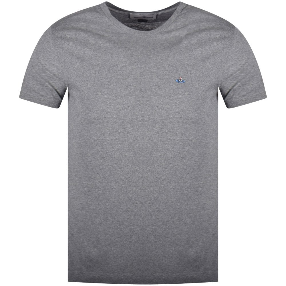 aa0b4c399d9 VIVIENNE WESTWOOD Grey Embroidered Logo T-Shirt - Men from ...