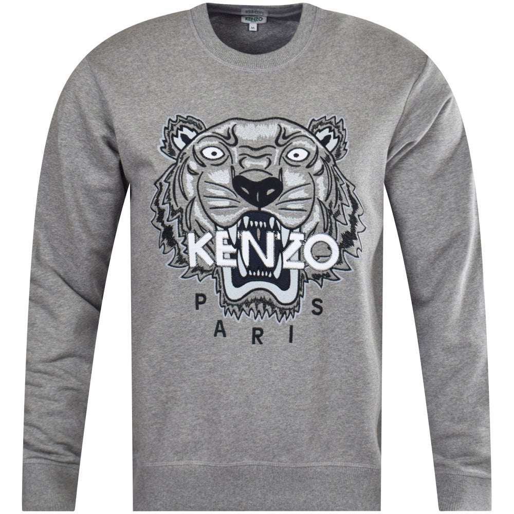 88e6a63b46a KENZO Grey Embroidered Tiger Sweatshirt - Department from ...