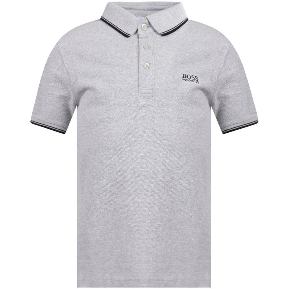 fce3dd25abc HUGO BOSS JUNIOR Grey Logo Polo Shirt - Junior from Brother2Brother UK