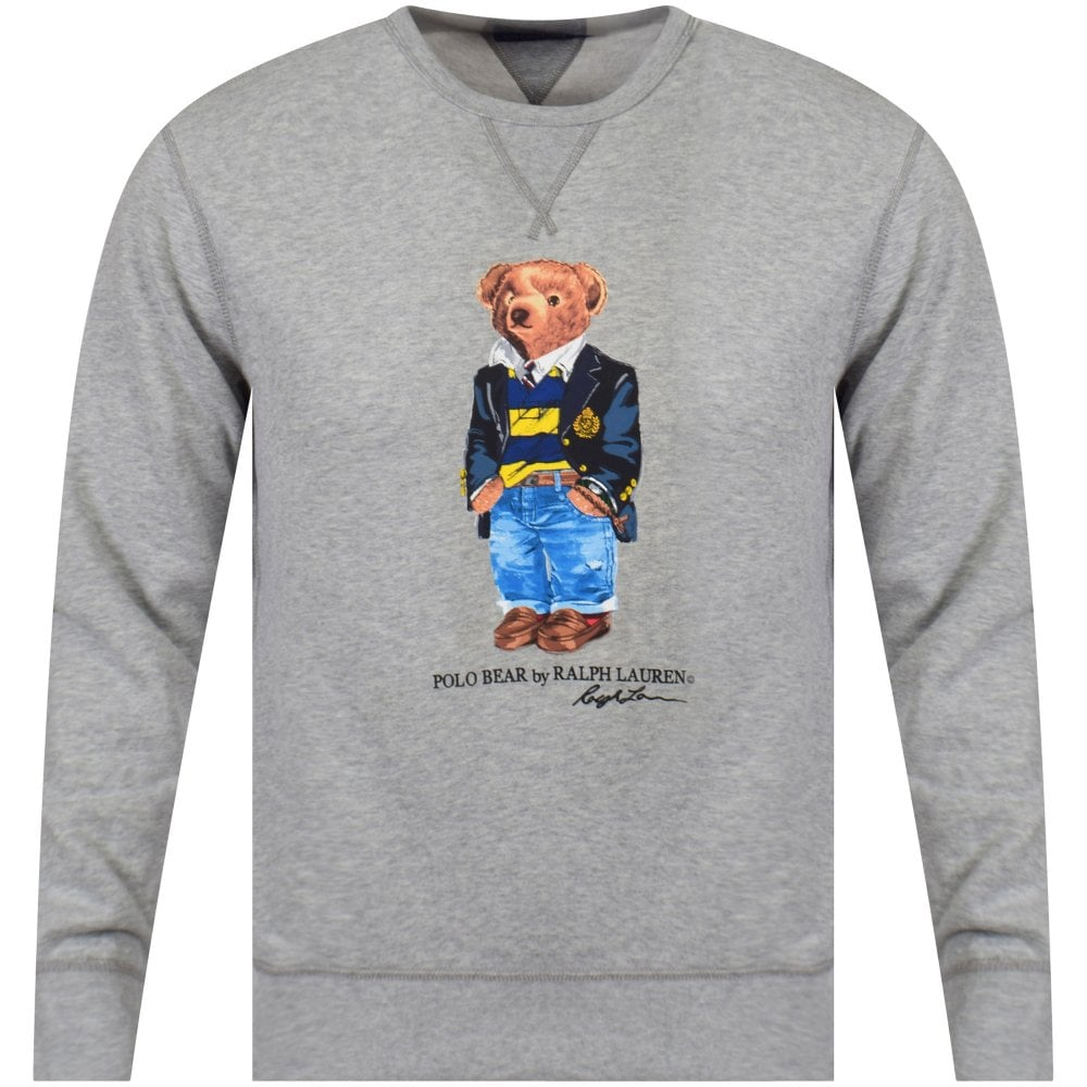 71ef50d0b POLO RALPH LAUREN Grey Polo Bear Sweatshirt - Department from  Brother2Brother UK