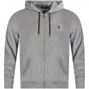 Grey Velour Zip Hoodie. POLO RALPH LAUREN ... a7754e5022a