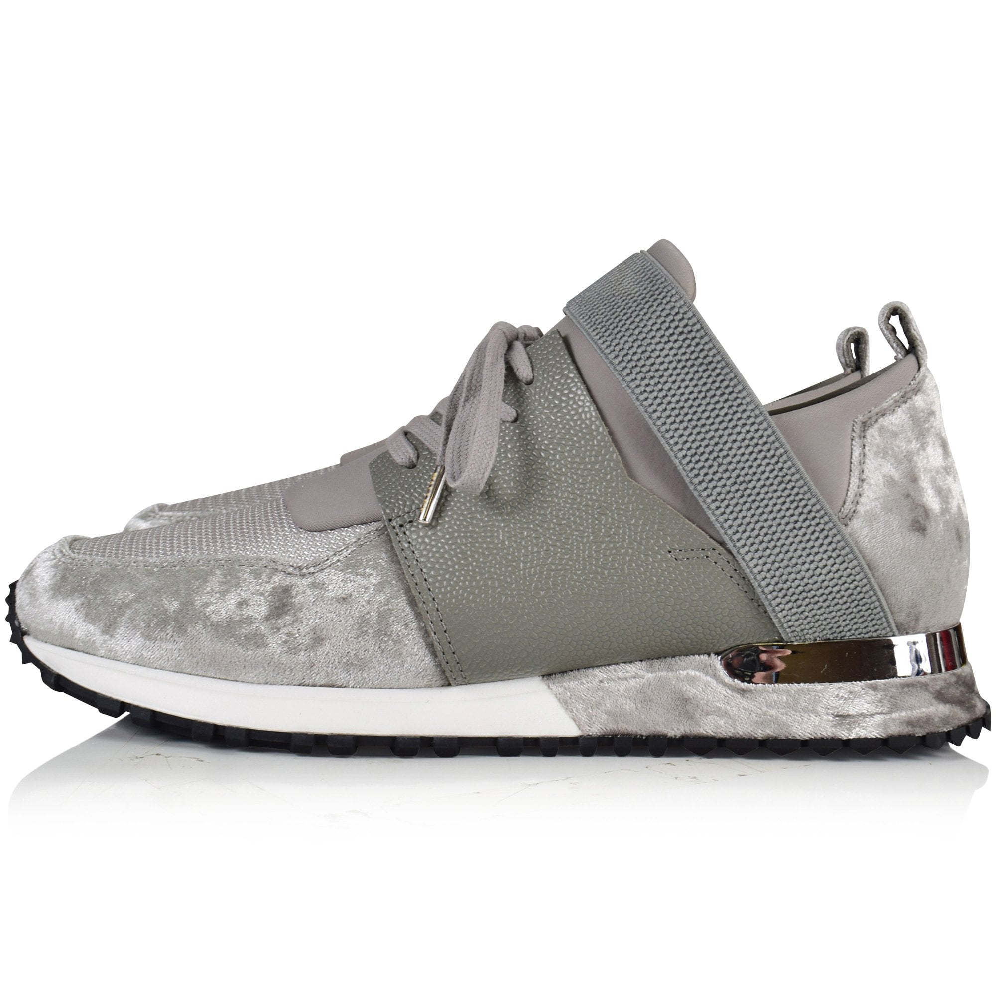 MALLET FOOTWEAR Grey Velvet Elast